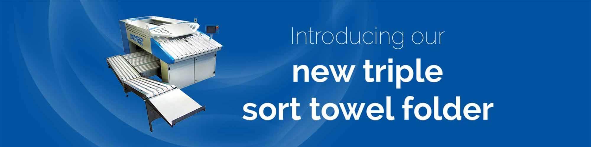 New triple sort towel folder